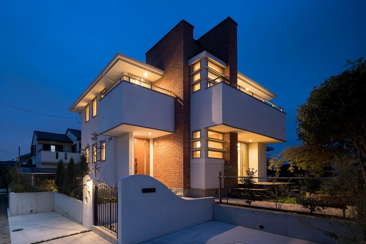 施工実例にて オーガニックハウス夜景写真をご覧いただけます