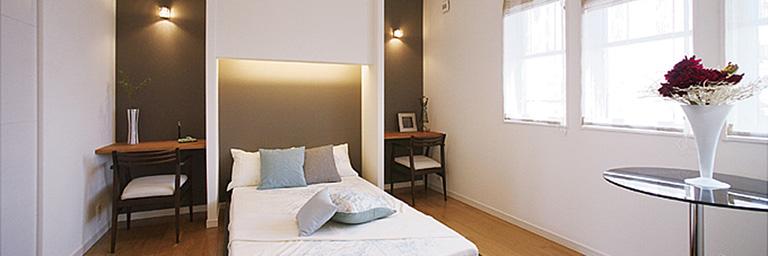 神奈川県横浜市の注文住宅の寝室