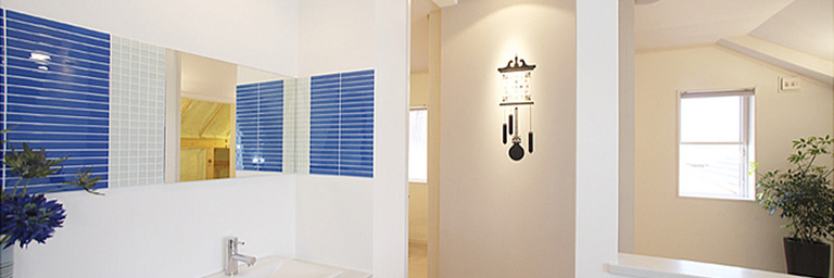 神奈川県横浜市の注文住宅の洗面所