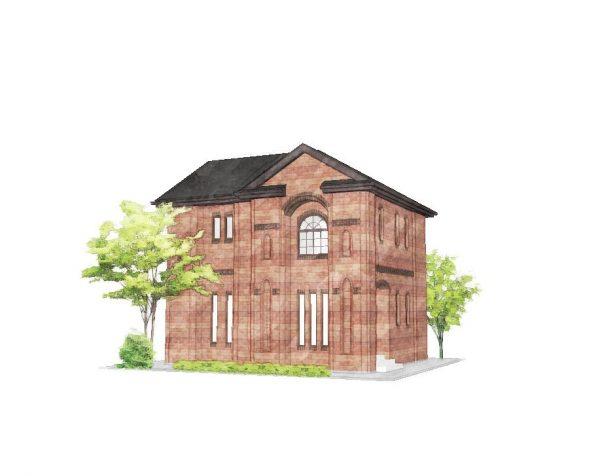 屋根裏収納のある家