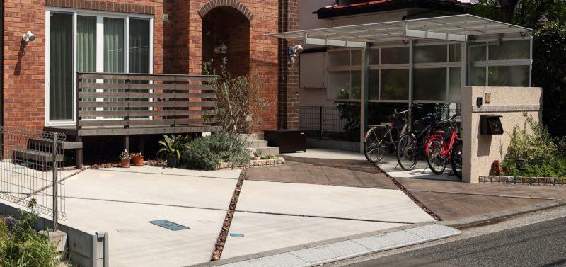 横浜市の駐車場とサイクルポートリフォーム