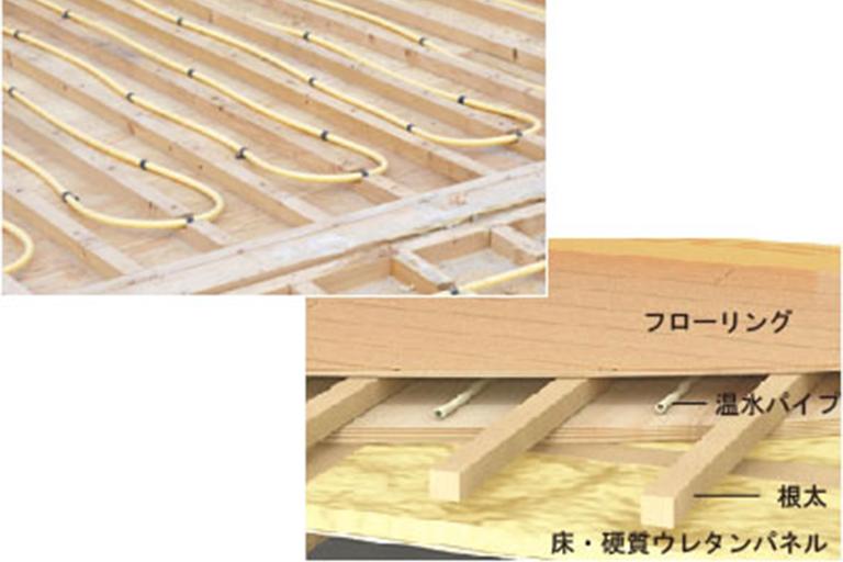 横浜市の注文住宅「蓄熱床暖房」構造