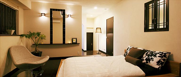 神奈川県横浜市の注文住宅のモデルハウス「ベッドルーム」