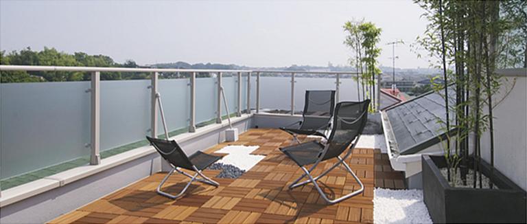 横浜市の注文住宅のモデルハウス「屋上テラス」