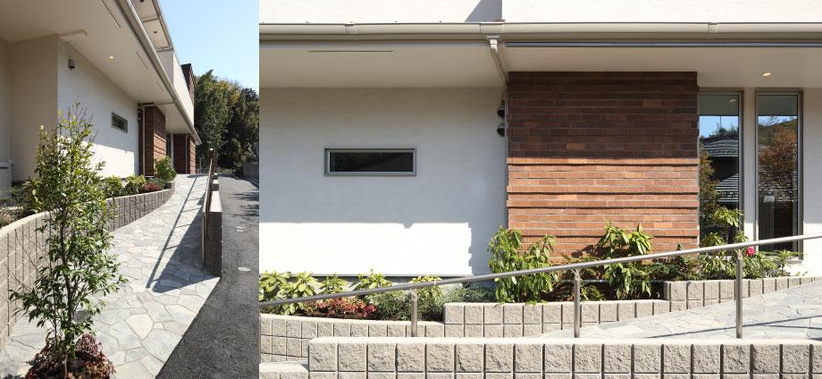 神奈川県横浜市の賃貸住宅のアプローチ