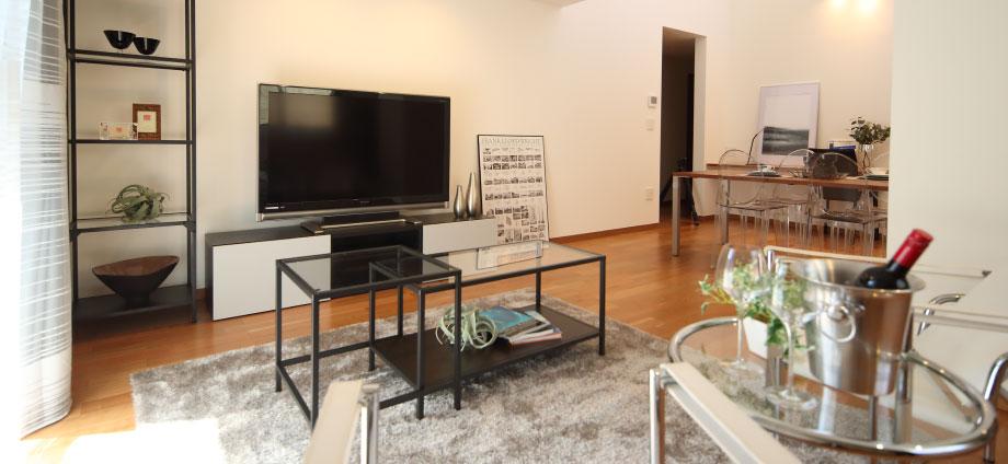 神奈川県横浜市の賃貸住宅のリビング・ダイニング・キッチン