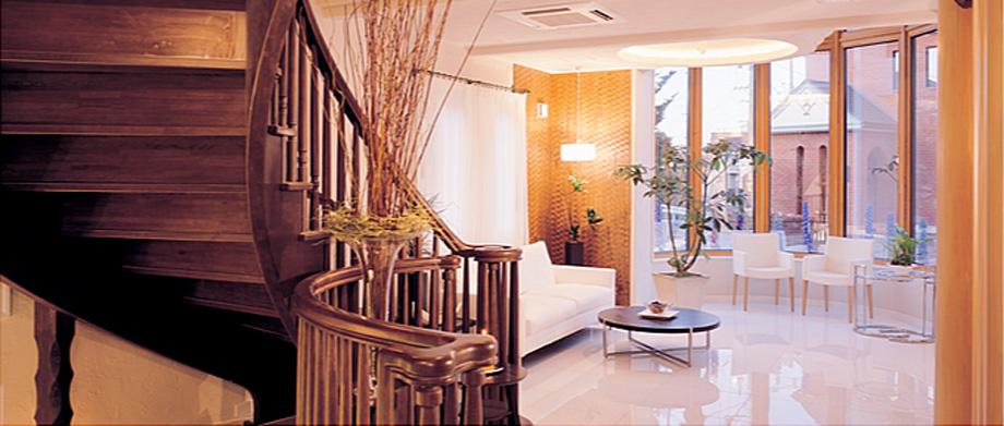 神奈川県横浜市のモデルハウスのエントランスホール