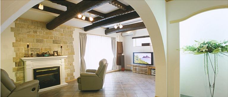 神奈川県横浜市の注文住宅「暖炉のある地下室」