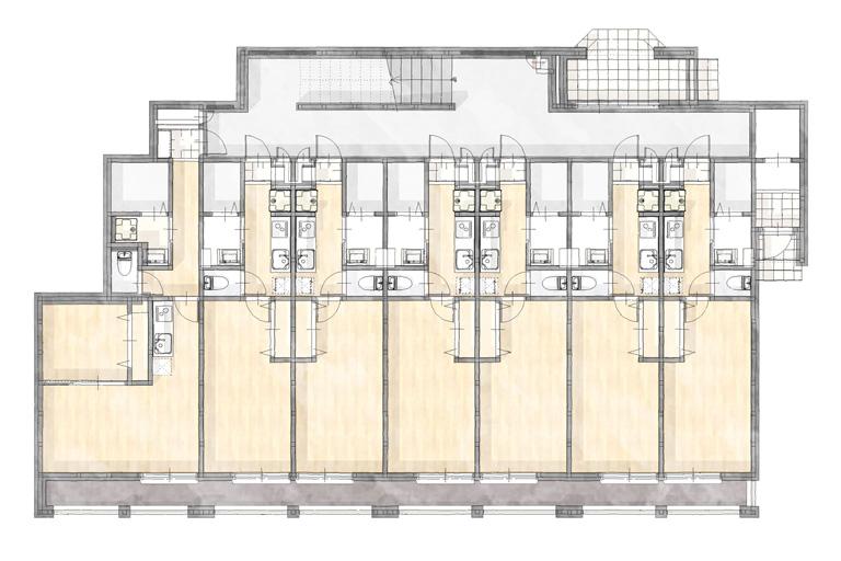 神奈川県横浜市の賃貸住宅・併用住宅実例 1階間取り図