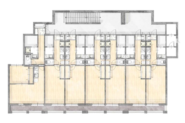 神奈川県横浜市の賃貸住宅・併用住宅実例 2階間取り図