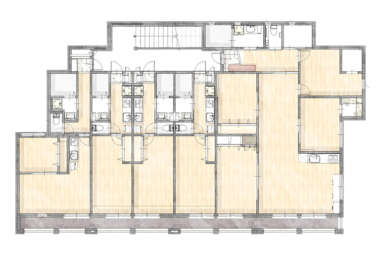 神奈川県横浜市の賃貸住宅・併用住宅実例 3階間取り図