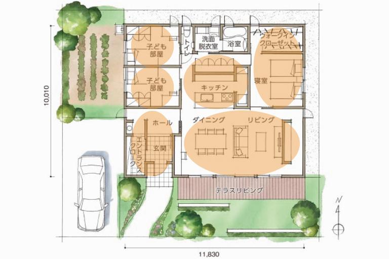 注文住宅の間取りデザイン
