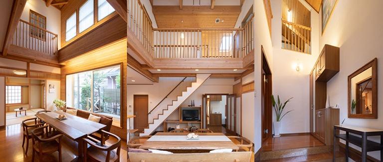 注文住宅の内装、様々な角度