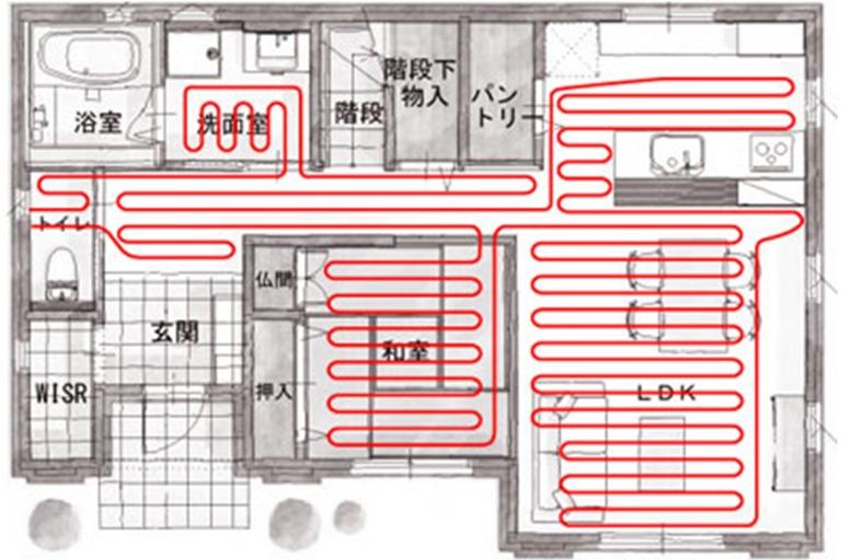 神奈川県横浜市の温水床暖房