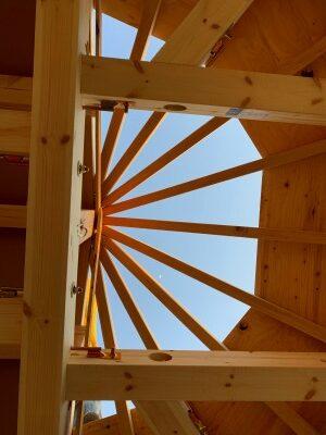 多角形屋根の過程